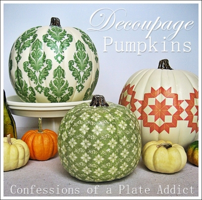 CONFESSIONS OF A PLATE ADDICT Decoupage Pumpkins.JPG