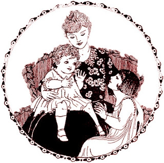 free vintage digi stamp_mother and children_sepia.jpg